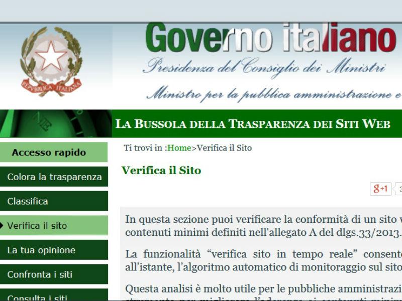 Trasparenza della Pubblica Amministrazione