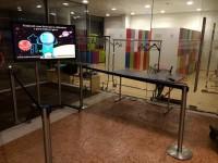 Lo spazio per l'exhibit Kinext realizzato da Fosforo, al Muse di Trento, allestito per il Festival See Science 2014