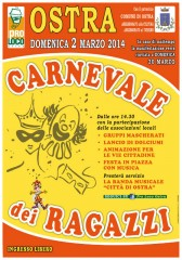 Locandina del Carnevale 2014 a Ostra