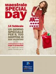 Locandina special day San Valentino 2014 al Centro Commerciale Il Maestrale di Senigallia