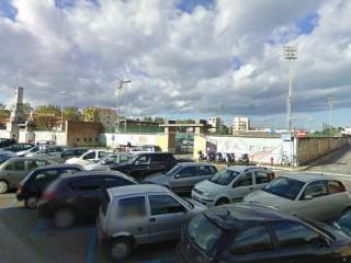 Lo stadio G.Bianchelli di Senigallia visto dal parcheggio di via Piave