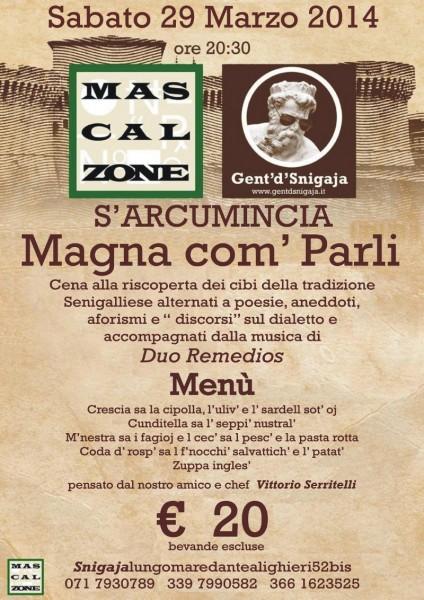 Mascalzone e Gent'd'S'nigaja - Magna com' parli del 29 marzo