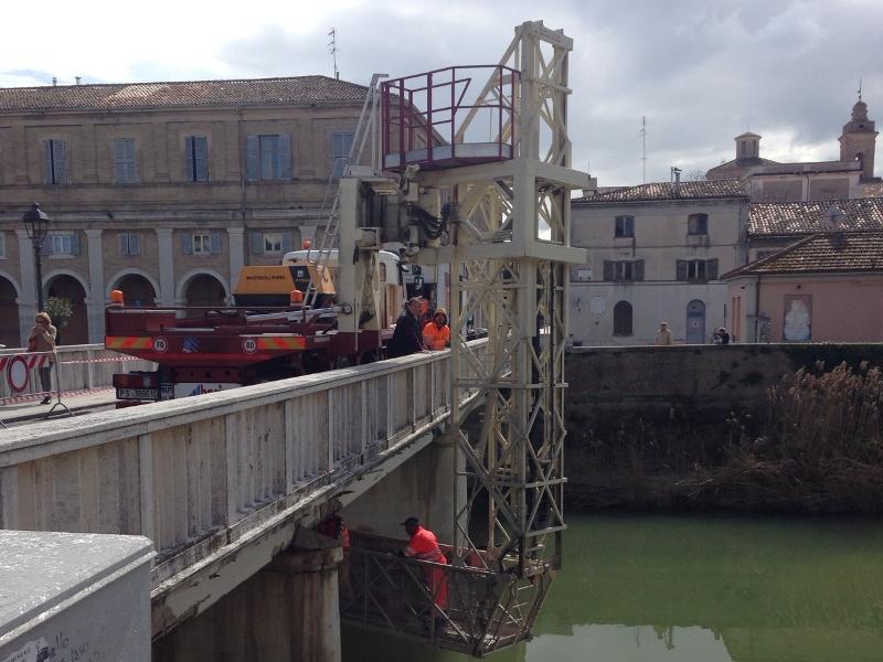 Verifiche strutturali su ponte Garibaldi a Senigallia