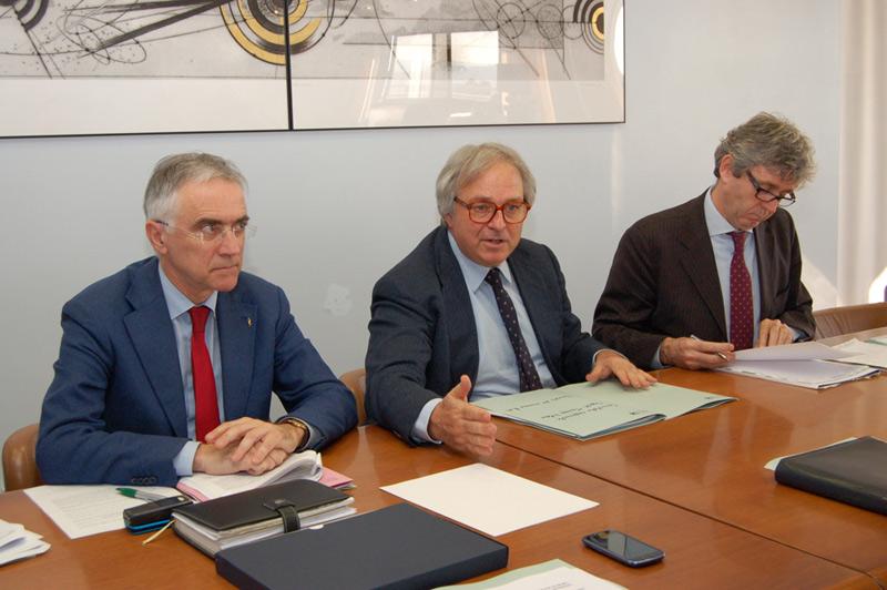 Marche, riunione del Comitato regionale dello sport: Canzian, Spacca, Sturani