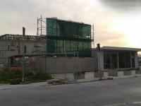 Il cantiere dell'area ex Sacelit, a Senigallia