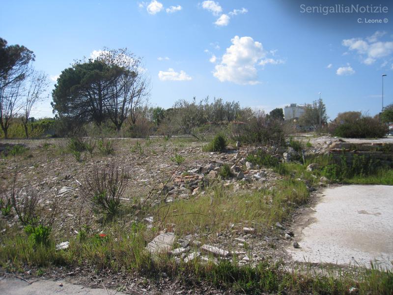 le macerie delle ex colonie Enel a Senigallia