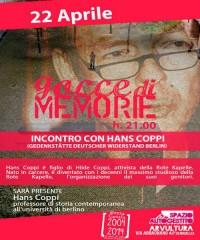 """""""Gocce di Memorie"""", incontro con Hans Coppi"""