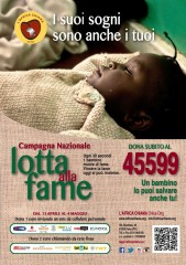 L'Africa chiama onlus - Campagna nazionale Lotta alla fame - SMS soldale 45599