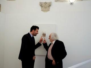 Elio Marchegiani con Maurizio Mangialardi (Foto Alberto Polonara)