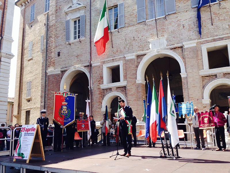 Celebrazione del 25 aprile a Senigallia, la Festa della Liberazione