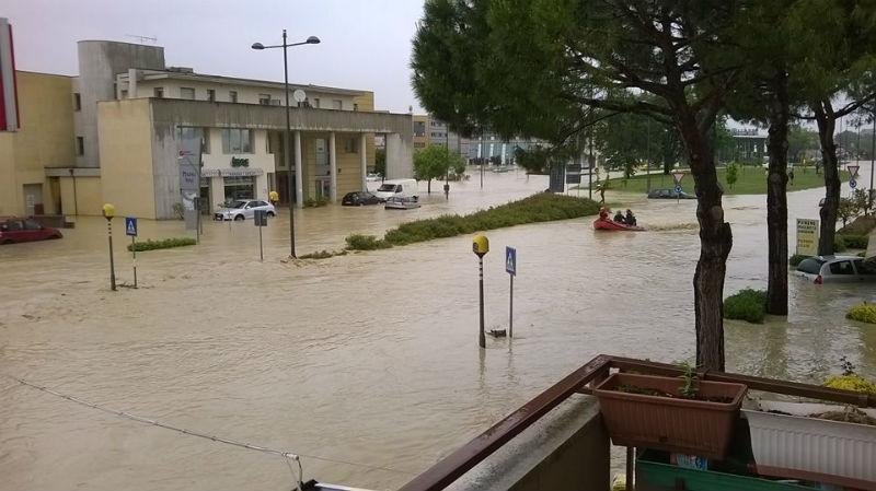 Senigallia alluvionata: la zona di Borgo Molino