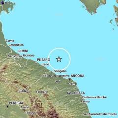 Scossa di terremoto in mare tra Senigallia e Fano