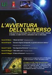 Volantino della rassegna di astronomia a Corinaldo