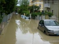 Alluvione a Senigallia vicino al Liceo Medi