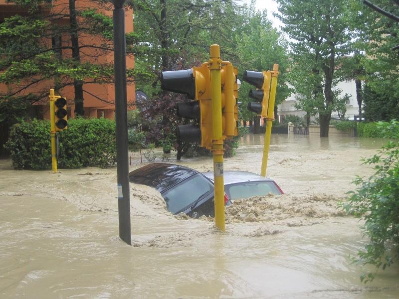 Alluvione a Senigallia - Viale A. Garibaldi