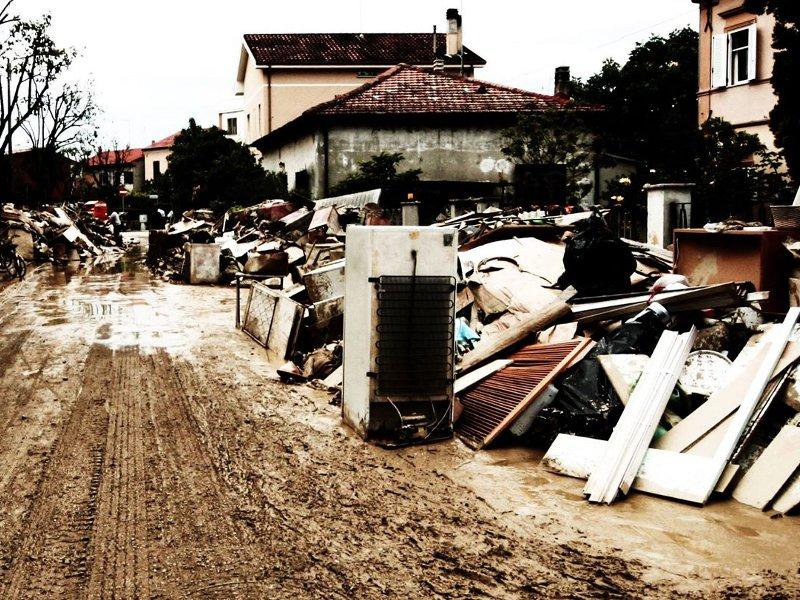 Via Trieste, Senigallia, dopo l'alluvione