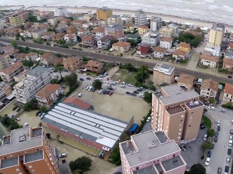 Zone alluvionate di Senigallia, tra le Saline e il lungomare Alighieri