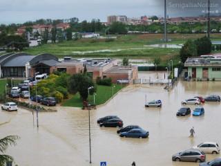 L'alluvione non risparmia le Saline di Senigallia