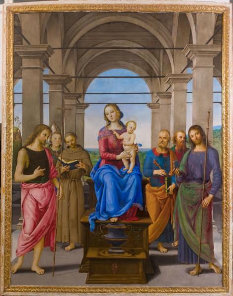 """Pala del Perugino (Pietro Vannucci) """"Madonna con bambino e santi"""""""