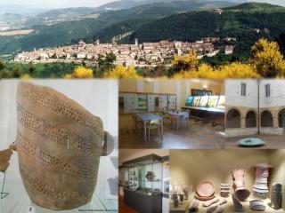 Il Museo archeologico statale di Arcevia e una veduta del paese