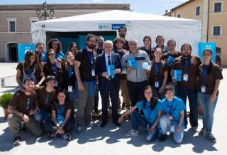 Il gruppo di Fosforo con il ministro Galletti a Senigallia