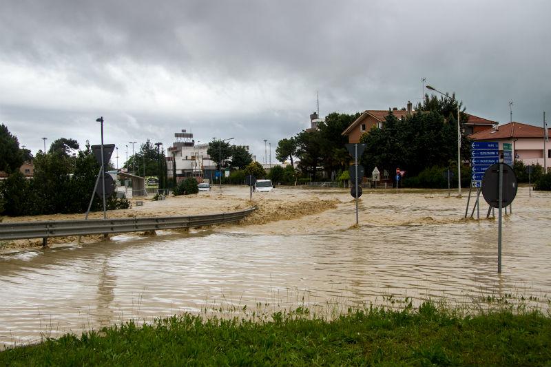Senigallia alluvionata: la situazione a Borgo Bicchia il 3 maggio 2014. Foto di Simone Porretti