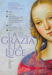 """Locandina della mostra """"La Grazia e La Luce – La pala di Senigallia del Perugino. Armonia e discordanze nella pittura marchigiana di fine Quattrocento"""""""