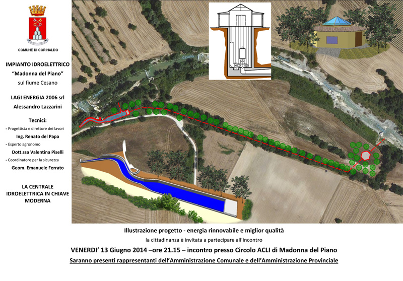 Il progetto per la centrale idroelettrica Madonan del Piano di Corinaldo