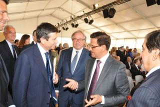 Il presidente Spacca con il ministro Lupi e il ministro dell'economia degli Emirati Arabi Al Mansouri