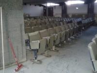 Aula magna del Liceo Scientifico i giorni dopo l'alluvione