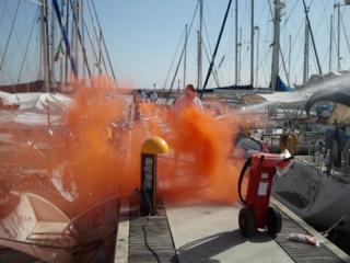 Esercitazionr al porto di Senigallia