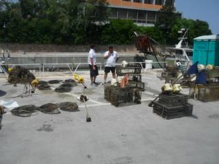 Materiali da pesca sequestrati