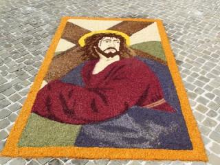 """Infiorata """"Corpus Domini"""" Castiglioni d'Arcevia - Il Cristo Morto"""