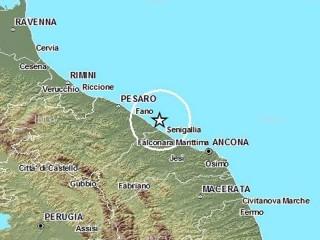 Terremoto in mare al largo di Marotta