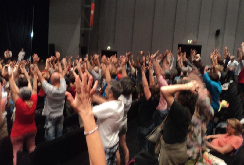 Il popolo del CaterRaduno al Teatro la Fenice