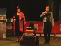 Corrado Nuzzo e Maria di Biase sul palco di Piazza Roma