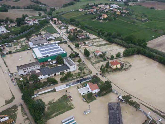 Alluvione del 3 maggio 2014 a Senigallia: la frazione di Cannella allagata