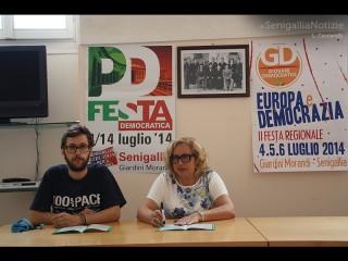 Roberto Tesei ed Elisabetta Allegrezza presentano PD in Festa 2014