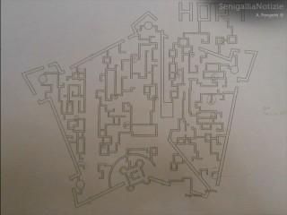 Percorso del Labirinto di mais 2014-Cartina