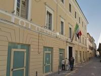 La Questura di Pesaro-Urbino, in via G.Bruno