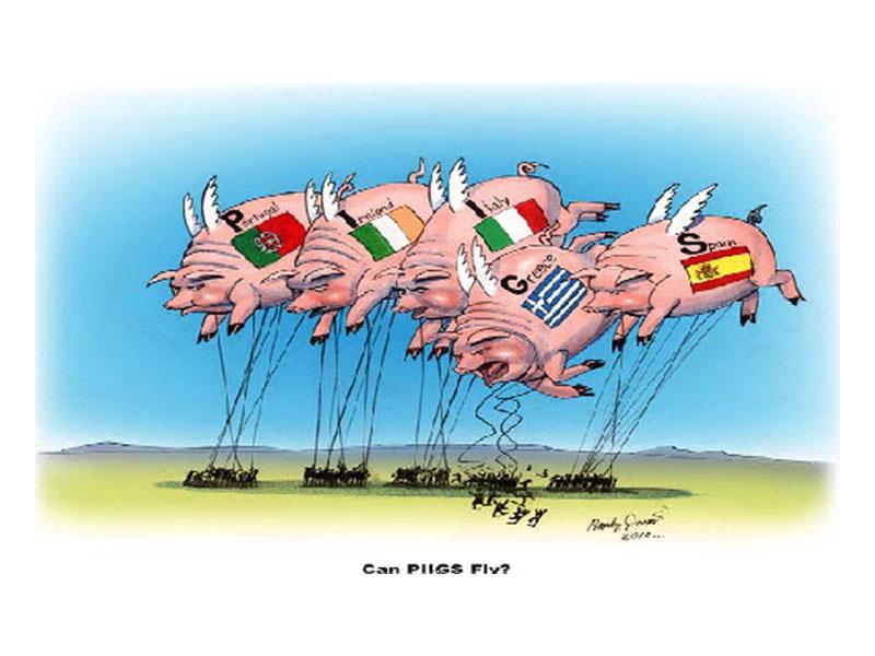 Piigs: Portogallo, Irlanda, Italia, Grecia, Spagna
