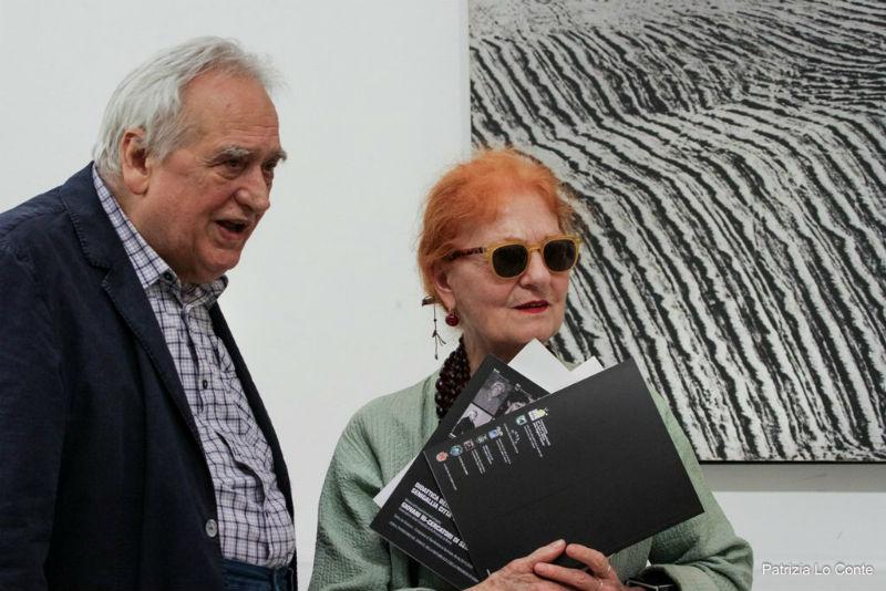 Maria Mulas al Musinf con il Prof. Bugatti