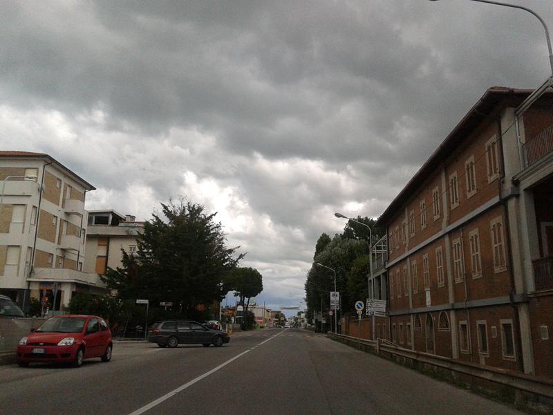 Nuvole e maltempo su Senigallia
