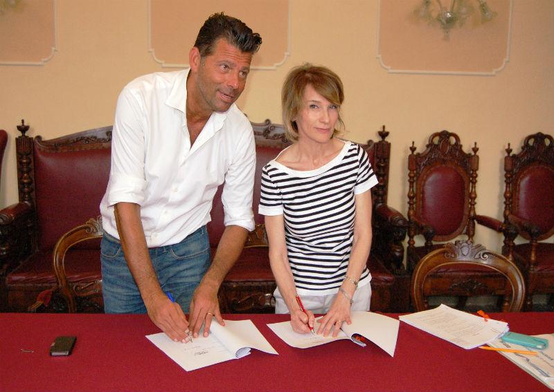 Mangialardi e Giorgi firmano la convenzione sulla riforestazione