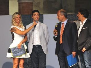 David Mugianesi e Luca Corinaldesi sul palco di Senigallia in Moda