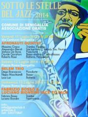 """La locandina e il programma della rassegna """"Sotto le stelle del jazz"""" 2014, a Senigallia"""