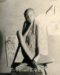 """la """"fanciulla"""",scultura di Giò Fiorenzi"""
