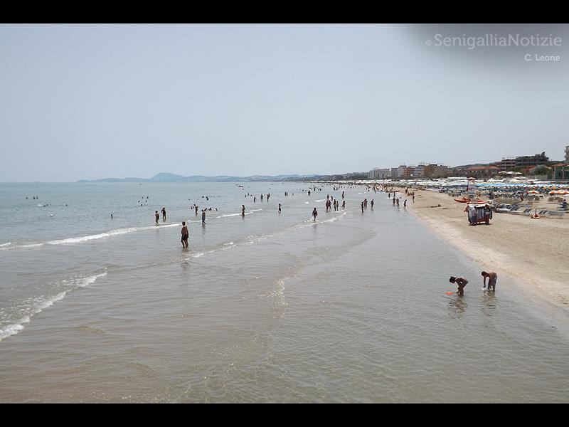 La spiaggia di Senigallia d'estate