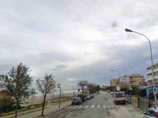 Lungomare Italia a Marzocca di Senigallia, all'altezza dell'Hotel Atlantic