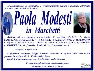 Manifesto funebre per Paola Modesti